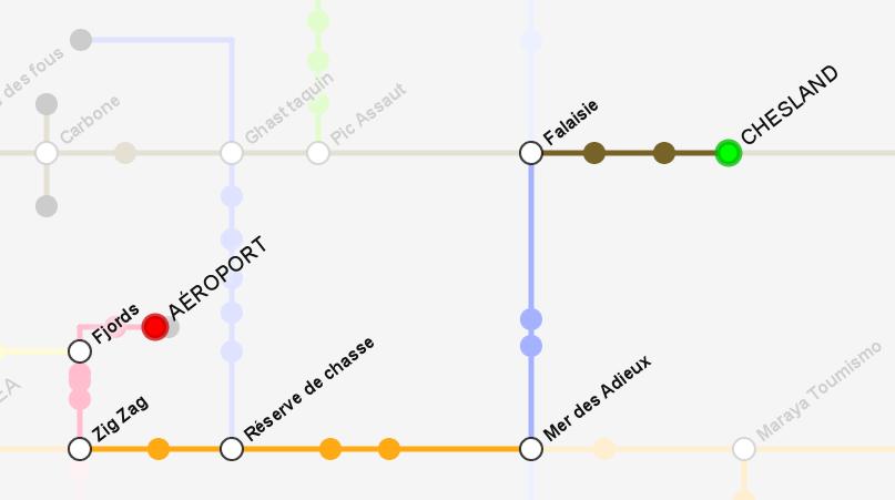 Affichage des itinéraires sur le plan dynamique