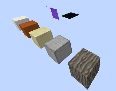 Aperçu de quelques uns des blocs